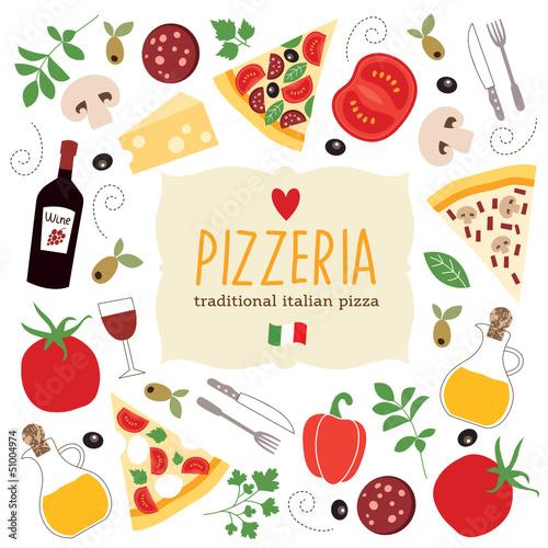 Fototapeta banner pizzy