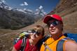 Switzerland - Matterhorn view hikers