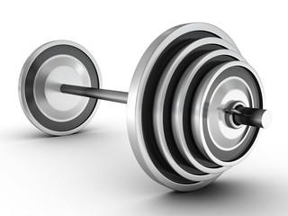 heavy bar weight on white background
