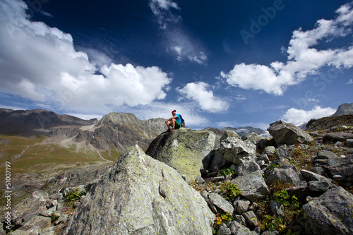 Switzerland mountain Hiker