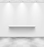 Fototapety White room with shelf