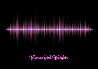 Pink glamour music waveform