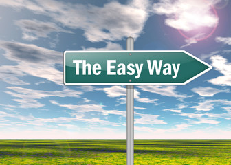 "Signpost ""The Easy Way"""