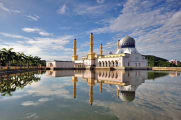 Reflection of Kota Kinabalu City Mosque