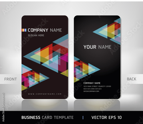 Business Card Set. Vector illustration. EPS10
