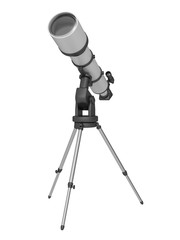 telescope on a white background