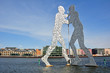 canvas print picture - Berlin - Molecule Man in der Spree