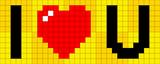 Pixel I heart U