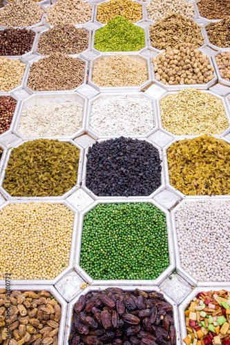 Dried fruit and nuts mix in Dubai market