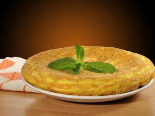 Tradicional tortilla de patatas.