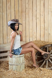 Girl in cowboy hat