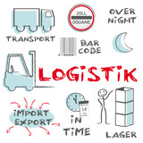 Logistik Transport Overnight Kurier Concept