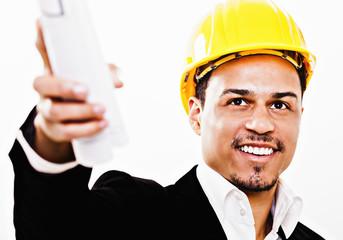Erfolgreicher Bauleiter am Bau
