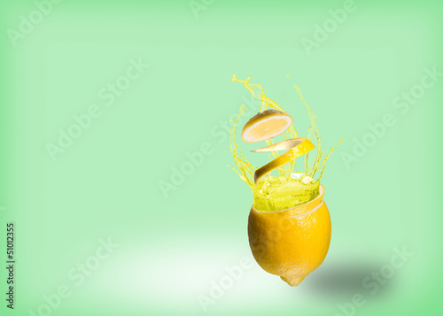 lemon and a splash of juice