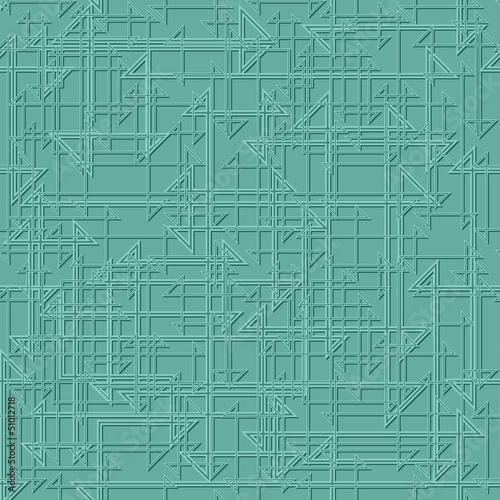 Geometric Teal Pattern