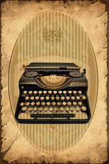 Retroplakat - Maschine zum Schreiben