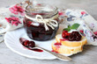 Sweet cherry jam with whole cherries