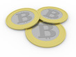three bitcoins