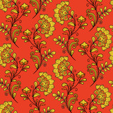 Red ornamental khokhloma pattern
