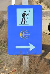 Sign of Camino de Santiago