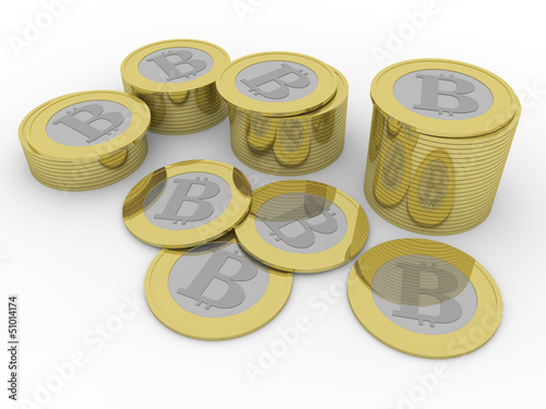 some bitcoins