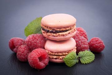 Macarons framboise