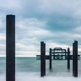 Frame of West Pier at Brighton