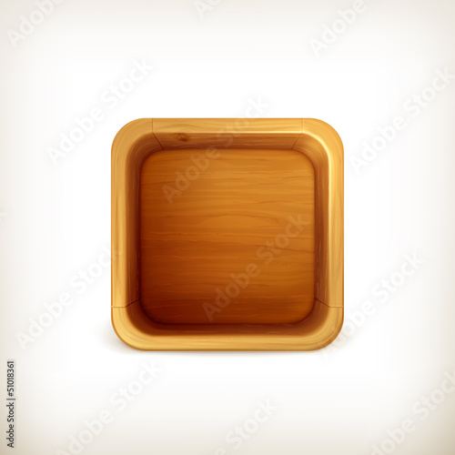 Wooden box app icon