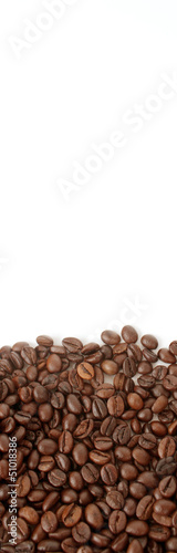 Coffee grunge on the light background