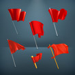 Red flags,icon set