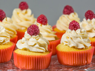 Raspberry Topped Cupcakes
