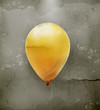 Yellow toy balloon, old style