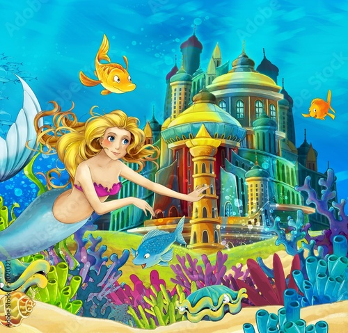 Zdjęcia na płótnie, fototapety na wymiar, obrazy na ścianę : The princesses - castles - knights and fairies