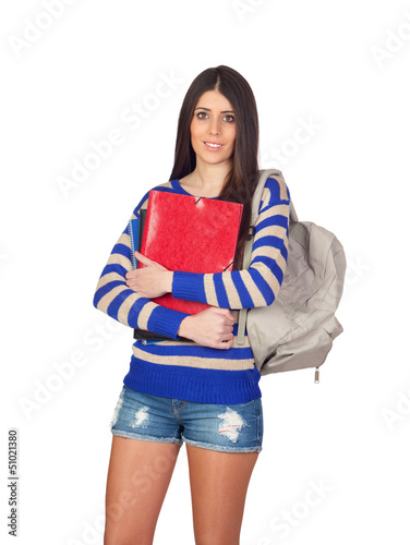 Attractive student girl