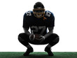 american football player man crouching silhouette