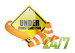 under construction service sign i