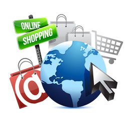 international online shopping concept