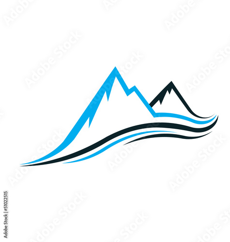Mountain swoosh