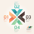 Modern arrow origami style number options banner. Vector