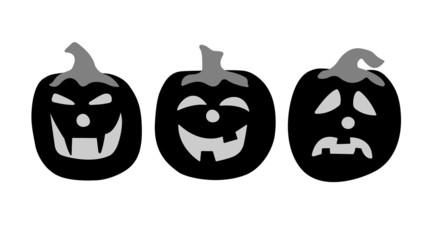 Three pumpkins silhouettes.