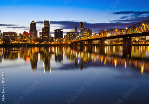 The Portland Skyline at Night