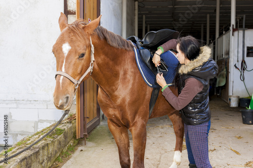 equestrian with her horse