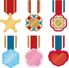 かわいい勲章のセット