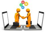 Handshake Laptop Gears