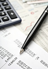 Bilanz, Taschenrechner, Rechnung