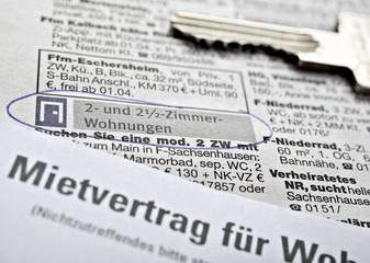 Mietvertrag, Wohnungssuche
