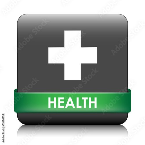 HEALTH Web Button (first aid pharmacy advice fitness lifestyle)