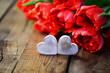 2 Herzen,Tulpen