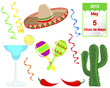 Cinco De Mayo. Set of holiday elements.