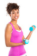 Young Woman Lifts Weights